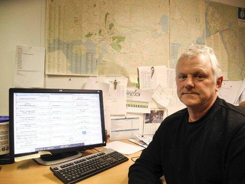 MISTER VANN: Over 700 husstander i Halden mister vannet natt til tirsdag 16. oktober. Det skyldes en gammel kum som skal byttes ut ved Risum ungdomsskole. – For at færrest mulig skal merke at vannet er borte har vi valgt å gjøre denne jobben på natten da mange sover, sier avdelingsleder VA Roy Prang.