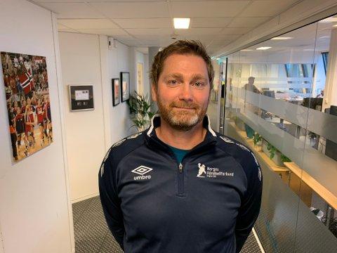 NY I TRENERTEAMET: Halden Topphåndballstrener Jan Thomas Lauritzen skal også være med i trenerteamet til Norges G18-landslag.
