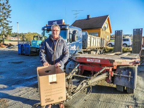 FLYTTER: Dalig leder Hans Jørgen Eriksen i Are Anlegg er på flyttefot. Kontoret her i Halden legges ned.