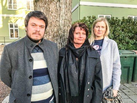 PÅ TOPPEN: Denne trioen topper nominasjonskomiteens liste. Fra venstre: Helge Bergseth Bangsmoen (2. kandidat), Kirsti Brække Myrli  (1. kandidat) og Linn Laupsa (3. kandidat).