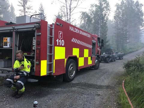 Brannvesenet rykket blant annet ut til Boksjøen i går.