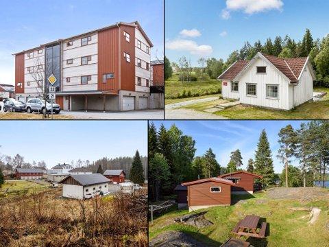 NOE FOR DEG?: Disse fire eiendommene ligger til salgs for en million kroner eller mindre i Halden og Aremark per 20. juli 2018. Meglere i Halden  melder om få nye objekter, men at folk som er interessert, ikke bryr seg om at juli er fellesferie.