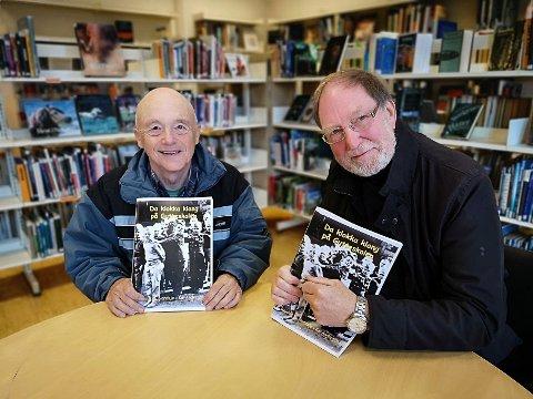 Reidar O. Nordsjø (t.v.) og Kai Andersen har laget bind 2 om Gutteskolen. – Det kom så mange bidler og historier etter at vi ga ut den første boka, at vi fikk nok materiale til enda en bok, sier de.