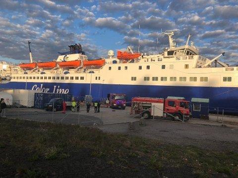 BRANN: Det er på MS Bohus det brøt ut en brann i en hjelpemotor torsdag. Alle avganger mellom Strömstad og Sandefjord er derfor innstilt.