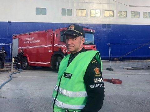 Innsatsleder Ottar Steinstø ved Sør-Øst politidistrikt