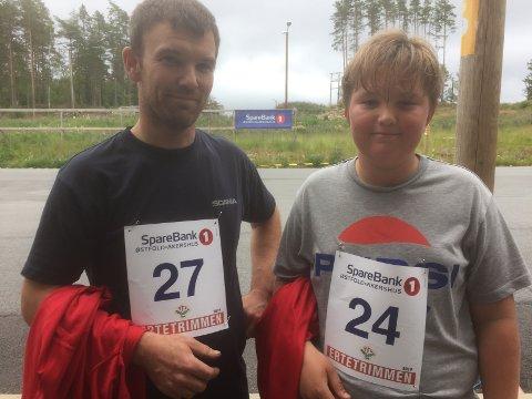 GIKK ERTETRIMMEN: Fritz Ola og Ola Johan Bekkevold var blant de 45 som var med på Ertetrimmen torsdag.