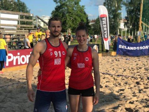 EM-KLARE: Kristoffer Stenberg Henriksen og Katarina Ugland (Fjellhammer) ble begge tatt med i EM-troppene til Norge.