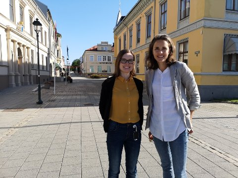 Fra venstre: Martine Hageengen Ringal, miljørådgiver i Halden kommune og Marianne R. Kahrs, seniorrådgiver ved Smart Innovation Norway.