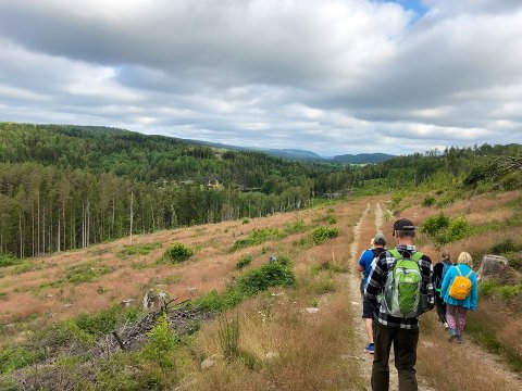 Men man trenger ikke å reise så langt for å vandre i vakre omgivelser. Her fra vakre Enningdalen.