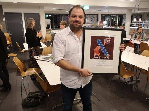 Gunnar Paulsen fikk tildelt Journalistprisen 2020 for «Marie»-saken av Norsk Journalistlag Østfold onsdag kveld.