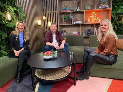 GOD KVELD: Inger Cecilie Grønnerød på besøk hos Marte Bratberg og Niklas Baarli i God Kveld Norge på Tv2.