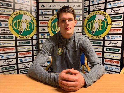 TIL COMET: Stian Thorbjørnsen (18) skal spille for Comet ut sesongen. Han kommer fra spill for Spartas U21-lag, og er sønn av tidligere Sparta- og Comet-spiller Per Marius Thorbjørnsen.