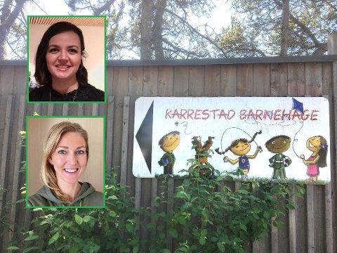 Erita Thaqi og Merete Skavern har skrevet et leserinnlegg om Karrestad barnehage.