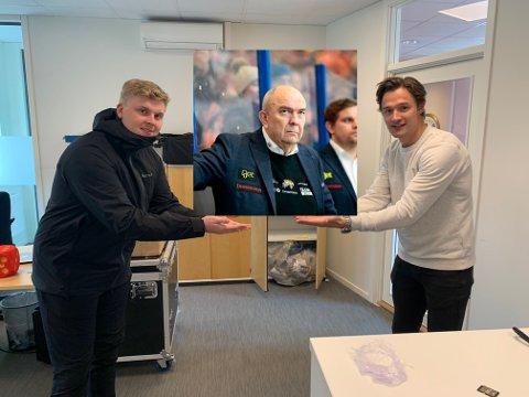Sune Bergman (i midten) er i fokus i den nye episoden av Sportsprat.