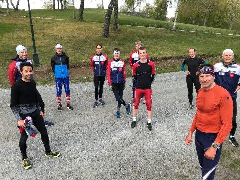 KORONATRENING: Halden Skiklubbs ivrige utøvere holder godt aktivitetsnivå, selv i utfordrende koronatider.