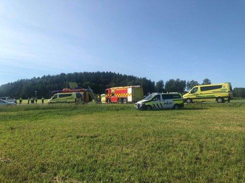 OMKOM: Livet til den 59 år gamle motorsyklisten sto ikke til å redde etter at han kolliderte med en bil i krysset Oltidsveien/Ullerøyveien.