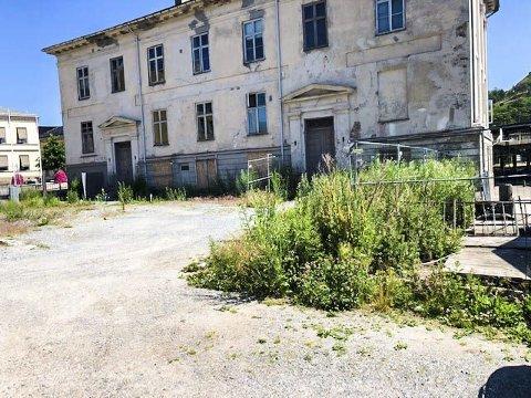 «Uforståelig»: – Ingen skjønner hvordan en kan la den stygge tomta få lov til å skjemme en så vakker by. Foto: PRIVAT