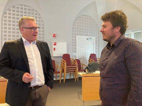 FORSKJELL: I torsdagens formannskapsmøte var det stor forskjell mellom hvor bekymret Håvard Tafjord (Høyre) og Helge Bergseth Bangsmoen (Arbeiderpartiet) er for prognosen på merforbruk på 18 millioner kroner i 2020.