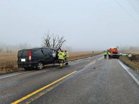 To biler var involvert i ulykken på E18.