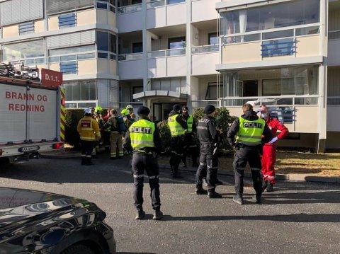 UTRYKNING: Stor styrker ble tilkalt da alarmen gikk i Vidars vei fredag formiddag.