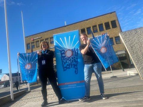 FESTIVALKLARE: Anders Minge (t.h.) og Dennis Karlsen gleder seg til å vise fram en heldigital utgave av Bomkræsjbang for Haldens befolkning.