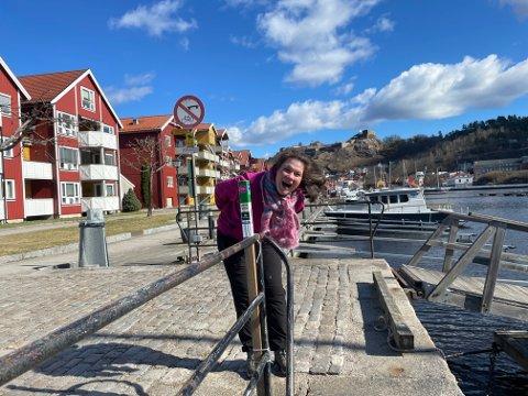 Marte Akerbæk Klanderud gikk 40.000 skritt, og gjorde seg ferdig med alle stolpene først av alle i Halden.