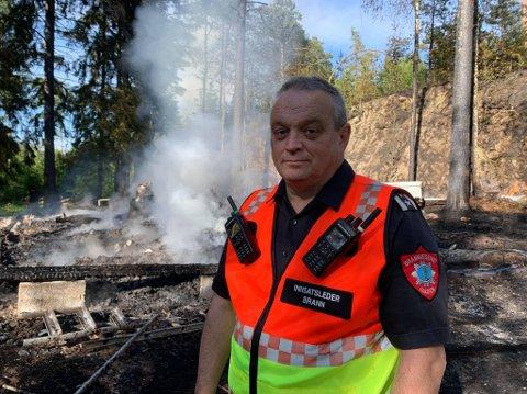 Innsatsleder Rune Nilsen i Brannvesenet.