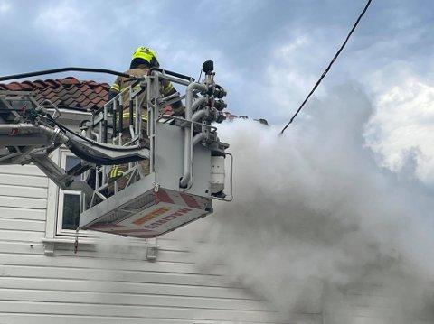 Brannvesenet fikk raskt slukket brannen.