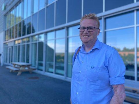 ØKONOMISK STØTTE: Høyres gruppeleder i Halden, Fredrik Holm, håper Halden-bedriftene kommer seg gjennom økonomiske utfordringer som følge av pandemien.