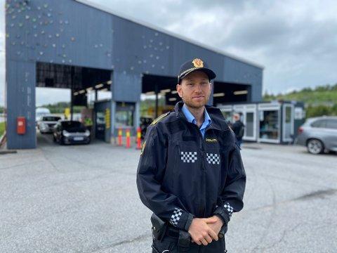 Politioverbetjent Stian Rasmushaugen.