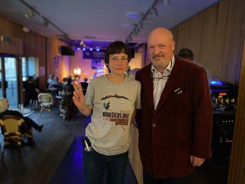 Tanya og Emil Stang Lund er fornøyde med festivalåpningen.