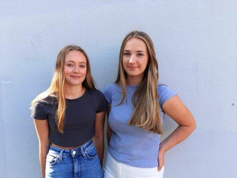 GLEDER SEG:  Mathea Bukholm (17) og Helene Ramdal Damgaard (18) er begge  førstegangsvelgere. De er begge opptatt av politikk og har blant annet klima og innvandring som hjertesaker.
