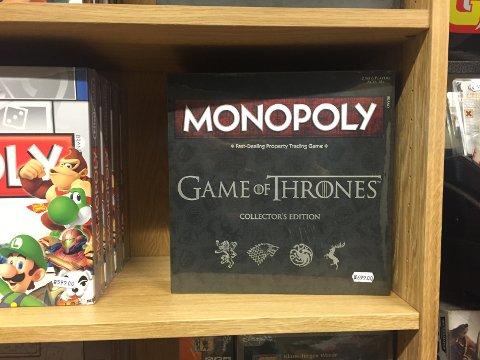 MONOPOL: Monopol i Game of Thrones-versjon.