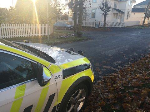 I KRYSS: Ulykken skjedde i krysset mellom Heidemanns gate og Folkestads gate i Hamar.