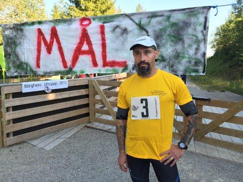 SKUFFET: Fulvio Øksendal måtte konstatere at han ikke klarte å gjennomføre sitt eget ultraløp.
