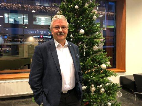 LAVERE FORVENTNINGER: Konsernsjef Richard Heiberg i SpareBank 1 Østlandet sier at forbrukere og bedrifter går inn i 2020 med noe lavere forventninger til det kommende året.