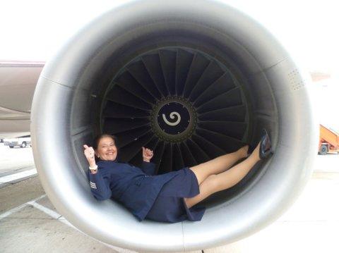 SLUTTET: For seks år siden sluttet Anne-Line Westad som SAS-flyvertinne.