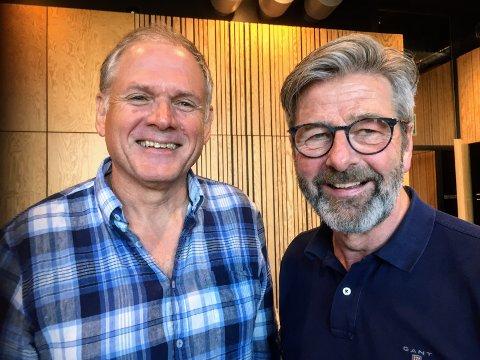 JUBILERER: Dirigent Trond Berg (t.v) og korleder Sverre Bjørnstad inviterer til jubileumsfest med Storhamar Blandede Kor.