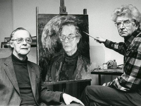 PORTRETTERT: Rolf Jacobsen ble portrettert av Knut Frøysaa et drøyt 10-år før «bystesaken». Dette bildet sto i Hamar Dagblad 16. februar 1982.
