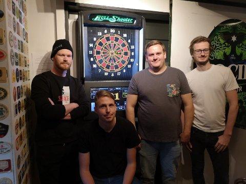 DONGERISKJORTENE: Per Anders Skjelseth, Emil Øverhaug, Thomas Jonsdal og Fredrik Ydse.