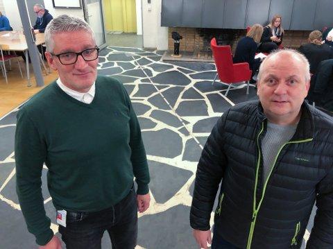 ETTERLYSER SVAR: Grunnforvalter Arne Sannvik (til venstre) og hovedutvalgsleder Kurt Methi (Ap) etterlyser svar fra private grunneiere om scooterløyper. Foto: Trond Ivar Lunga