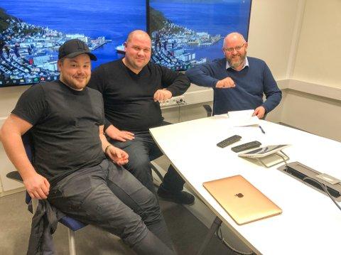SAMARBEIDER: Marius Heitmann (t.v.), Per Harald Aronsen og Espen Hansen er klar for å en ny runde med Hammerfestdager. Foto: Trond Ivar Lunga