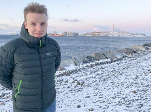LEDER PROSJEKTET: 37 år gamle Esben Blix Wisborg skal lede arbeidet med å få produksjonen i gang igjen på Melkøya. Foto: Trond Ivar Lunga