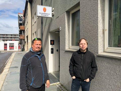 NY SEIER: Styreleder Roy Skog (til venstre) og daglig leder Steve Sivertsen har vunnet samtlige saker mot Hugaas Entreprenør AS. Foto: Trond Ivar Lunga