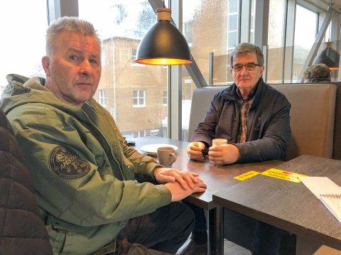 NEI TIL SAMETINGET: Trond Arve Johansen (til venstre) og Gudmund Svendsen vil legge ned Sametinget. Foto: Trond Ivar Lunga