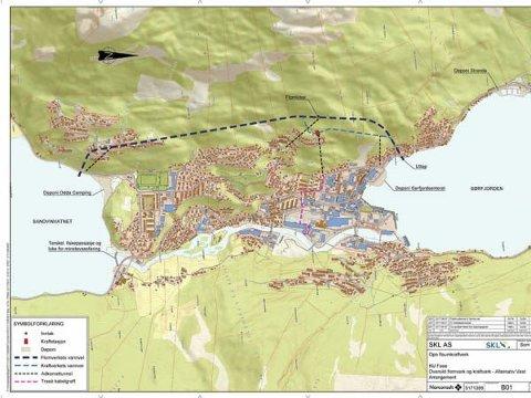 SKL: Her vil Sunnhordland Kraftlag ha flaumtunnel og kraftverk.