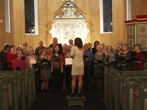 Odda songlag: Flott kirkekonsert. Foto: Svein Knutsen