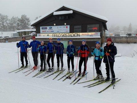 Fornøyde skiløpere på Geilo skistadion