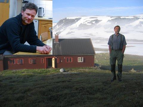 Jarle Viskjer (innfelt) er noverande vert ved Litlos turisthytta.  Reidar Borgstrøm vil gje alle vertane plass i boka.