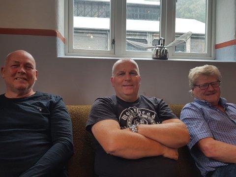 Kjetil Mandelid, Vidar Solvi og Erik Hultstrand på plass på Litteraturhuset